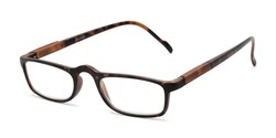 Angle of The Rye in Tortoise, Women's and Men's Rectangle Reading Glasses
