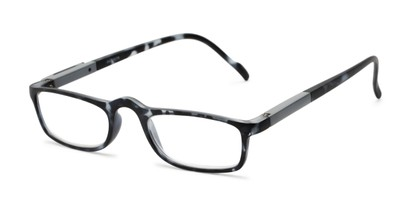 Angle of The Rye in Black Tortoise, Women's and Men's Rectangle Reading Glasses