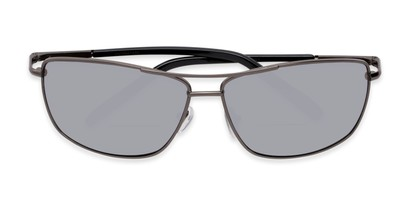 4407a5ba0ed2 Folded of The Ryker Bifocal Reading Sunglasses in Grey with Silver Mirror