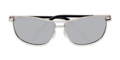 Folded of The Ryker Bifocal Reading Sunglasses in Silver with Silver Mirror