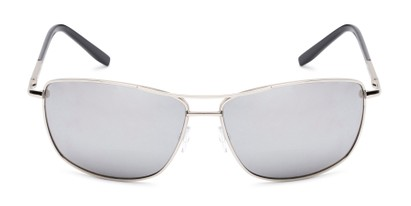 Front of The Ryker Bifocal Reading Sunglasses in Silver with Silver Mirror