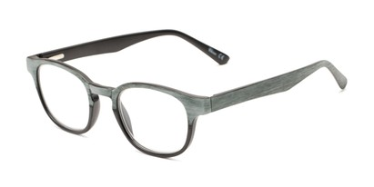 Angle of The Ryland in Black/Grey, Women's and Men's Round Reading Glasses