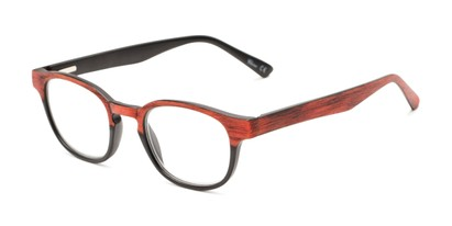 Angle of The Ryland in Black/Red, Women's and Men's Round Reading Glasses