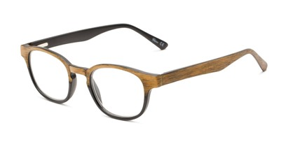 Angle of The Ryland in Black/Brown, Women's and Men's Round Reading Glasses