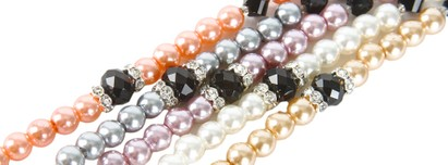 Image #1 of Women's and Men's Pearl Reading Glasses Chain