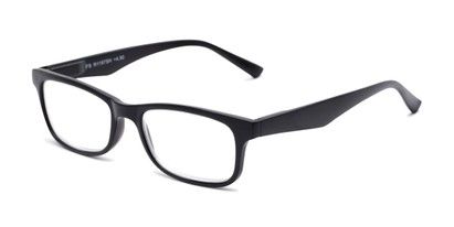 Angle of The Saffron in Matte Black, Women's and Men's Rectangle Reading Glasses