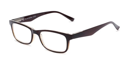 Angle of The Saffron in Glossy Brown, Women's and Men's Rectangle Reading Glasses