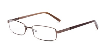 Angle of Salem by felix + iris in Brown, Women's and Men's Rectangle Reading Glasses