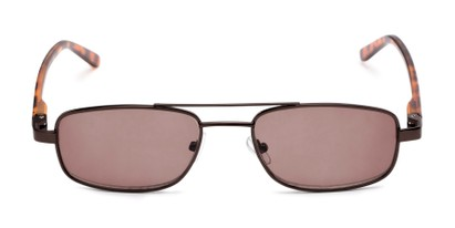 Front of The San Antonio Reading Sunglasses in Bronze/Tortoise with Amber