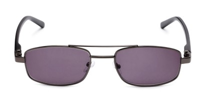 Front of The San Antonio Reading Sunglasses in Grey with Smoke