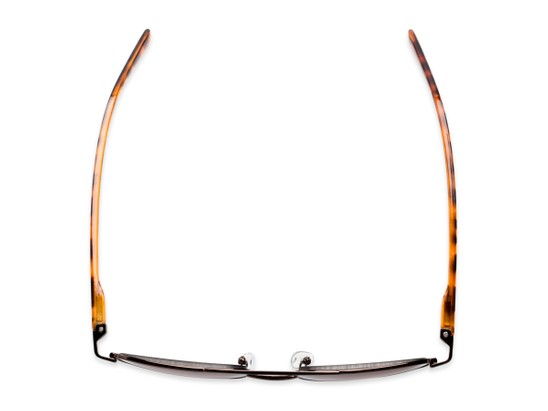 Overhead of The San Antonio Reading Sunglasses in Bronze/Tortoise with Amber