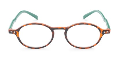 Front of The Scholar in Matte Tortoise/Green
