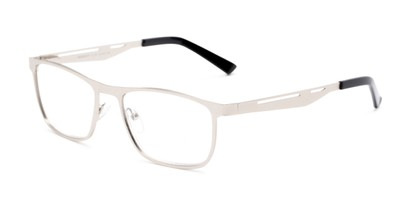 Angle of The Scotch in Silver, Men's Rectangle Reading Glasses