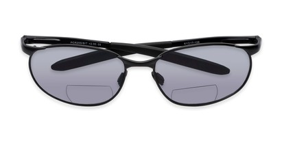 Folded of The Sean Bifocal Reading Sunglasses in Matte Black with Smoke