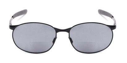 Front of The Sean Bifocal Reading Sunglasses in Matte Black with Smoke