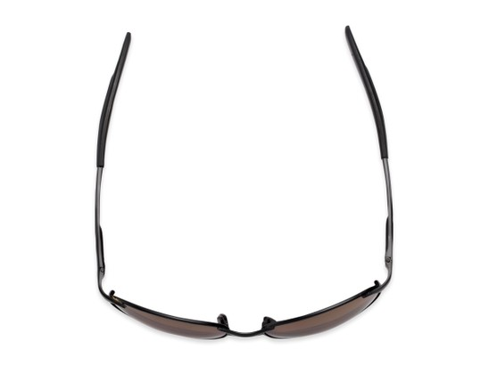 Overhead of The Sean Bifocal Reading Sunglasses in Matte Black with Amber