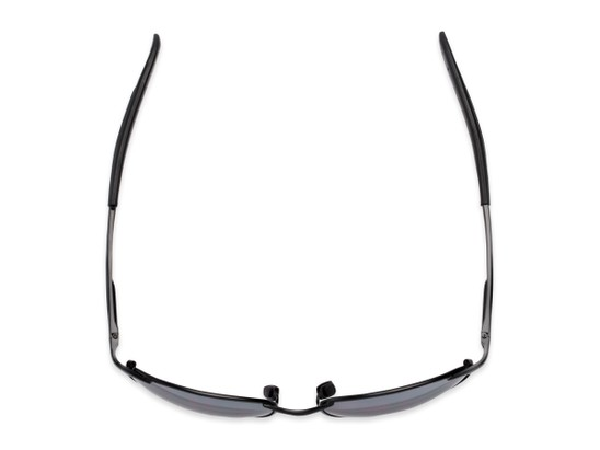 Overhead of The Sean Bifocal Reading Sunglasses in Matte Black with Smoke