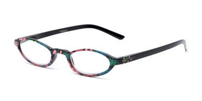 Angle of The Selena in Black Butterfly, Women's Oval Reading Glasses