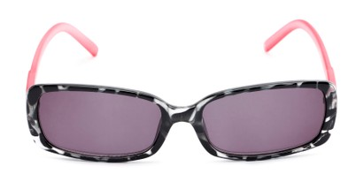 Front of The Shandy Reading Sunglasses in Black Tortoise/Pink with Smoke
