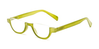 Angle of The Shay in Green, Women's and Men's Round Reading Glasses