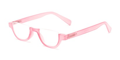 Angle of The Shay in Pink, Women's and Men's Round Reading Glasses