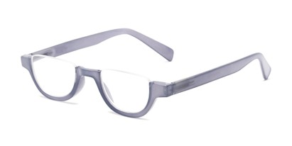 Angle of The Shay in Purple, Women's and Men's Round Reading Glasses