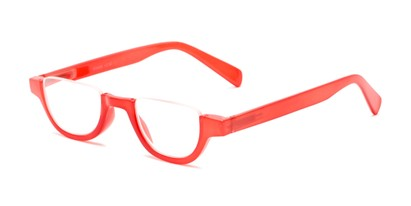 Angle of The Shay in Red, Women's and Men's Round Reading Glasses