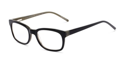 Angle of The Sheridan Customizable Reader in Black/Olive Green, Women's and Men's Retro Square Reading Glasses