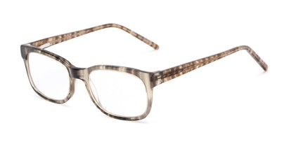 Angle of The Sheridan Customizable Reader in Grey Stripe, Women's and Men's Retro Square Reading Glasses