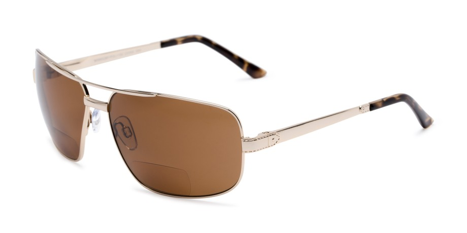 97a3ba02c85 Angle of The Sherlock Polarized Bifocal Reading Sunglasses in Silver with  Amber