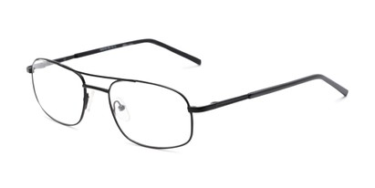 Angle of Sherman by felix + iris in Black, Women's and Men's Aviator Reading Glasses