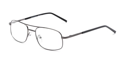 Angle of Sherman by felix + iris in Grey, Women's and Men's Aviator Reading Glasses