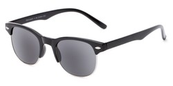 Angle of The Shiloh Reading Sunglasses in Black with Smoke, Women's and Men's Browline Reading Sunglasses