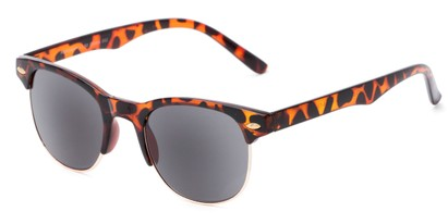 Angle of The Shiloh Reading Sunglasses in Tortoise with Smoke, Women's and Men's Browline Reading Sunglasses