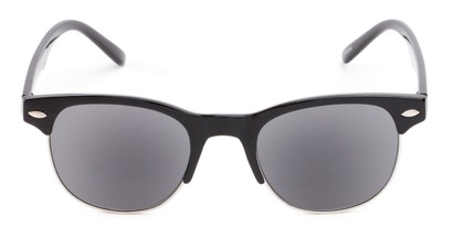 Front of The Shiloh Reading Sunglasses in Black with Smoke