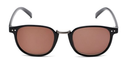 Front of The Silas Reading Sunglasses in Black with Amber