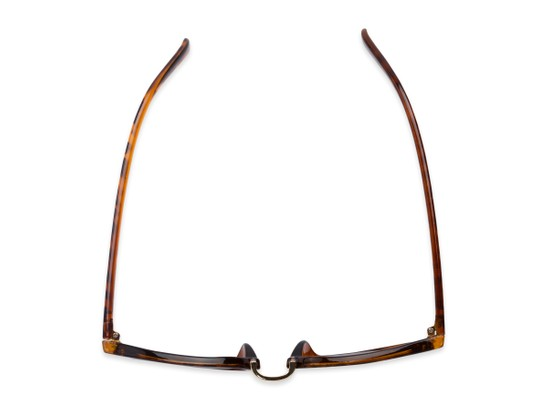 Overhead of The Silas Reading Sunglasses in Tortoise with Amber