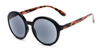 28003c0eb6 Angle of The Simone Reading Sunglasses in Black Tortoise with Smoke