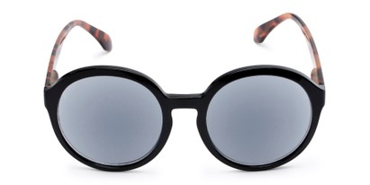 Front of The Simone Reading Sunglasses in Black/Tortoise with Smoke