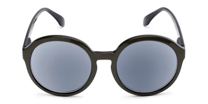 Front of The Simone Reading Sunglasses in Tan/Black with Smoke
