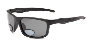 64ae094986 Angle of The Skipper Polarized Bifocal Reading Sunglasses in Matte Black  with Smoke