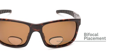 Detail of The Skipper Polarized Bifocal Reading Sunglasses in Tortoise with Amber