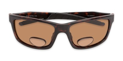 Folded of The Skipper Polarized Bifocal Reading Sunglasses in Tortoise with Amber