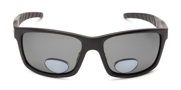 5717230380 Front of The Skipper Polarized Bifocal Reading Sunglasses in Matte Black  with Smoke