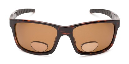 Front of The Skipper Polarized Bifocal Reading Sunglasses in Tortoise with Amber