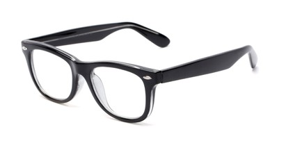 Angle of The Skye in Black, Women's and Men's Retro Square Reading Glasses