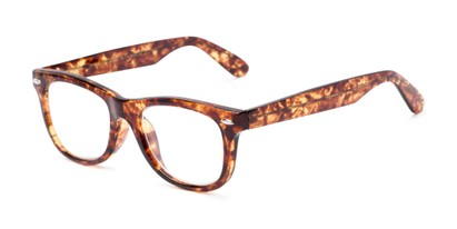 Angle of The Skye in Tortoise, Women's and Men's Retro Square Reading Glasses