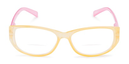 Front of The Sloan Bifocal in Yellow/Light Pink