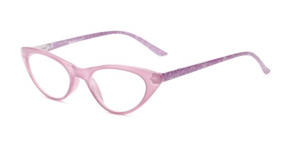 Angle of The Snowflake in Light Purple, Women's Cat Eye Reading Glasses