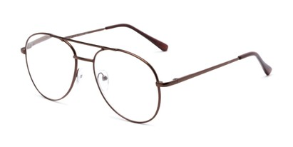 Angle of The Sonoma in Bronze, Women's and Men's Aviator Reading Glasses